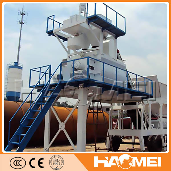 CE certification! good quality YHZS 25 mobile concrete mixing plant in Indonesia